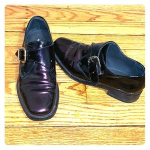 Buckle Purple Iridescent Brogues
